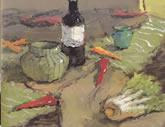 中国美术学院水彩静物欣赏036