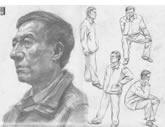 中国美术学院考生优秀素描试卷007