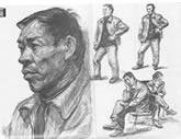 中国美术学院考生优秀素描试卷001