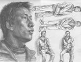 中国美术学院考生优秀素描试卷006