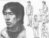 中国美术学院考生优秀素描试卷018