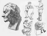 中国美术学院考生优秀素描试卷046