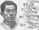 中国美术学院考生优秀素描试卷008
