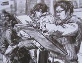 2010年中央美术学院造型艺术速写考卷14