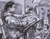 2010年中央美术学院造型艺术速写考卷13
