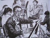 2010年中央美术学院造型艺术速写考卷08