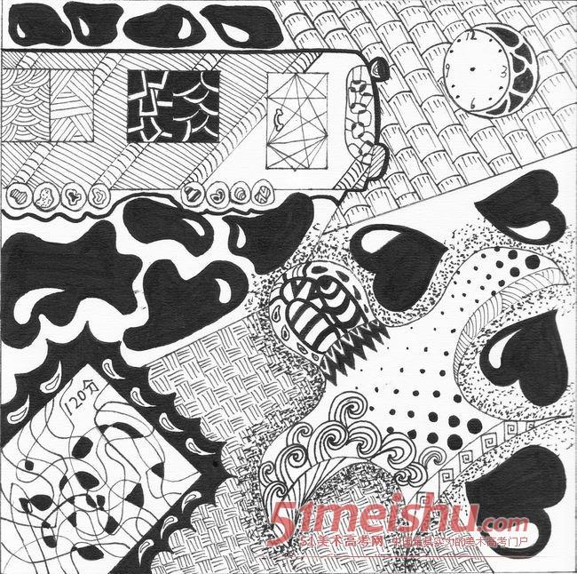 黑白装饰画优秀作品赏析21