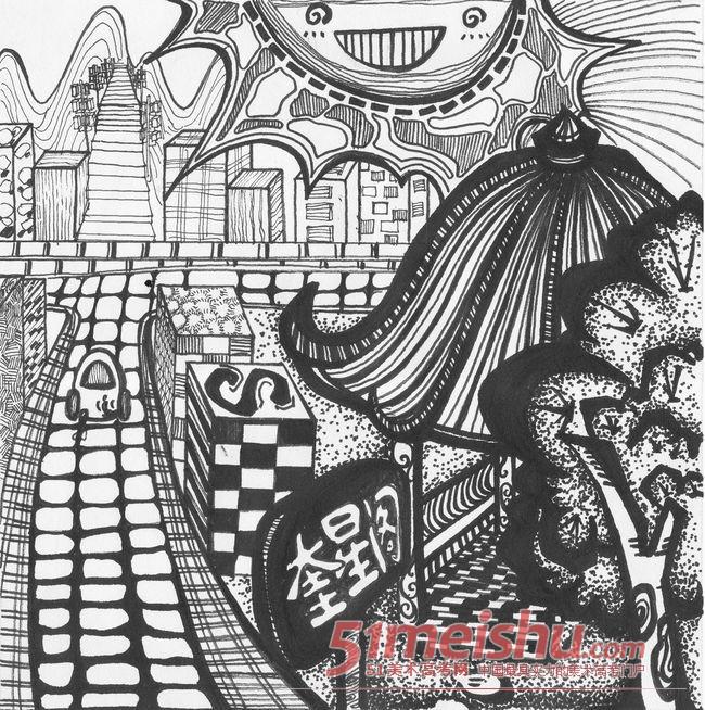 黑白装饰画优秀作品赏析03