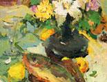《国美视界  考前色彩教学笔记》鱼深色花瓶花朵水果黄绿衬布写生