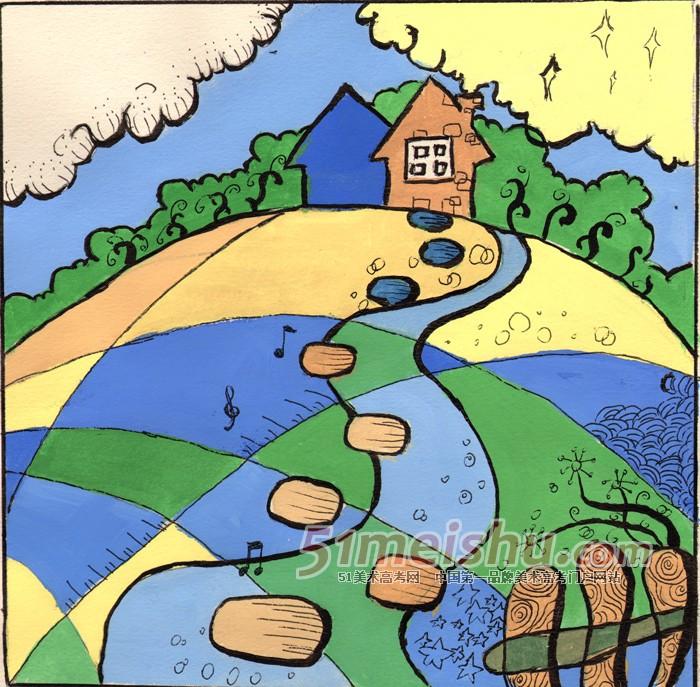 装饰画大师作品-大师色彩作品 适合色彩临摹的风景画-简单好看的水粉