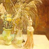 《��美�界--考前色彩教�W�P�》桌面雕像花束花瓶色彩��生作品
