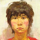《央美视界-央美附中坚实教学与考前实践》女青年正面油画头像写生作品