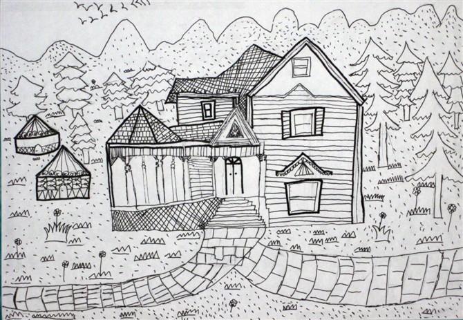 素描小学画画比赛作品