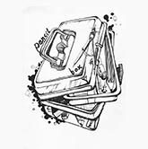 创意速写学生作品08