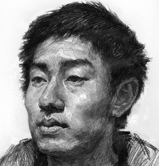 男青年头像素描图片