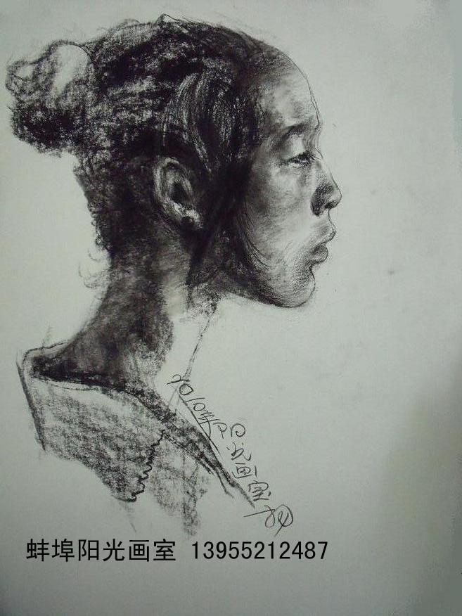 阳光人物图片素描