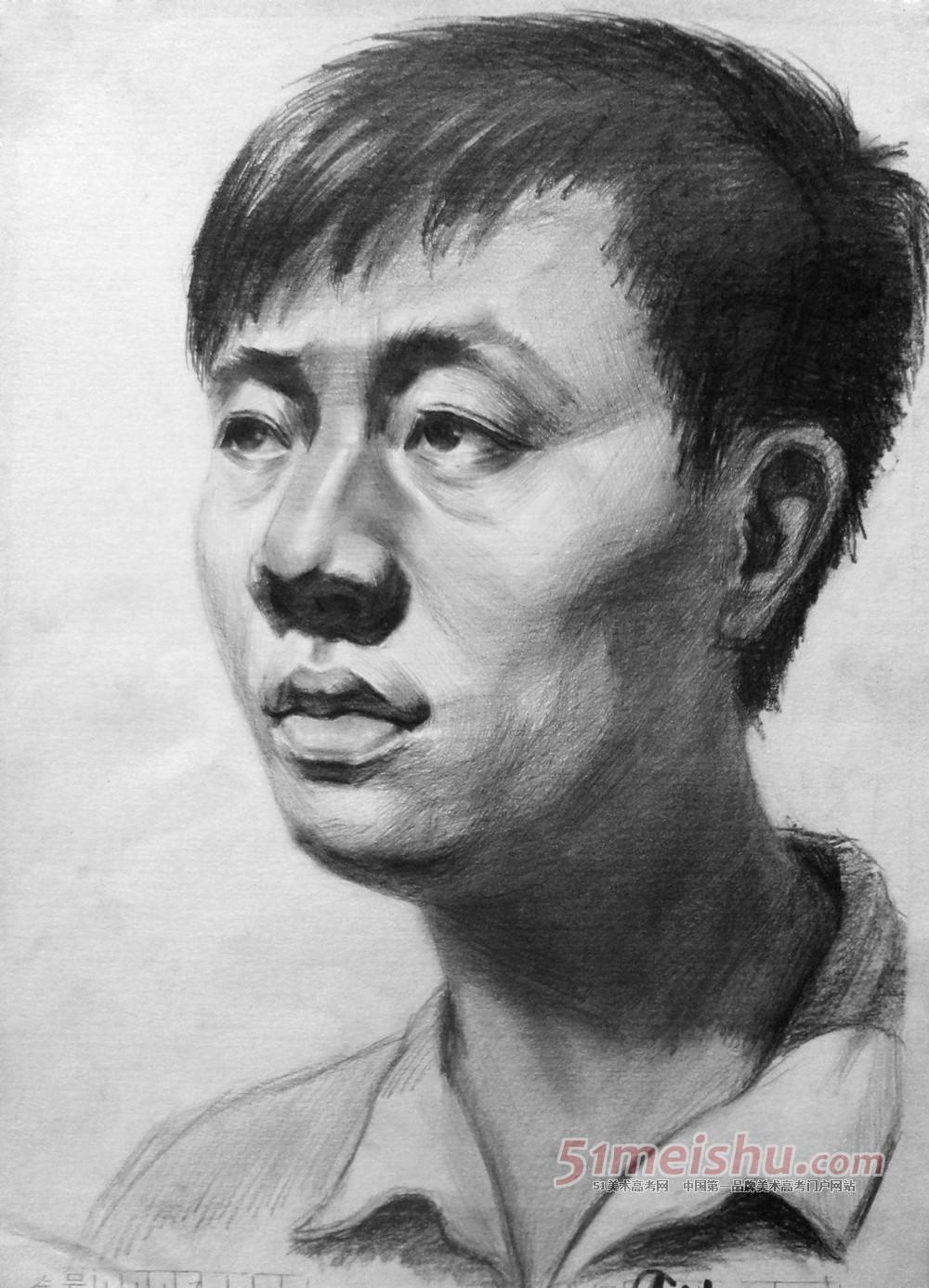2013年甘肃省美术统考(联考)素描高分试卷范画