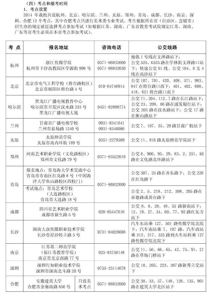 2014年浙江传媒学院校考 - 浙江艺考网 - 浙江艺