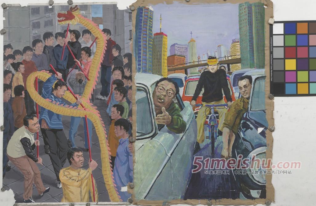 北京黑白画室色彩创作