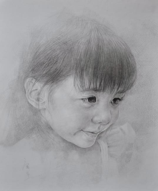 素描人物 女孩