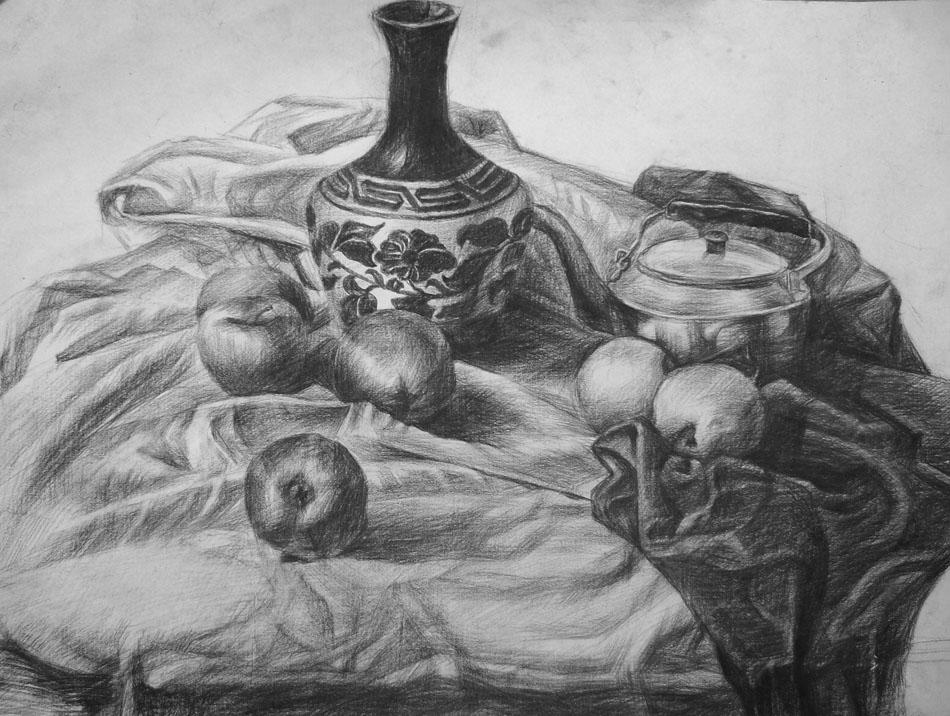 素描静物 花瓶