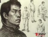 中��美�g�W院2008年【素描�^像】高分�卷(11p)