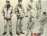 中国美术学院2008年【速写】高分试卷(5p)