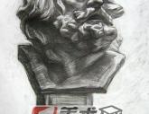中国美术学院2005年【素描石膏头像】高分试卷(5p)