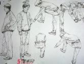 中国美术学院2007年【速写】高分试卷(5p)