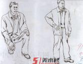 湖北美院1998年-2001年【速写】高分试卷(2p)