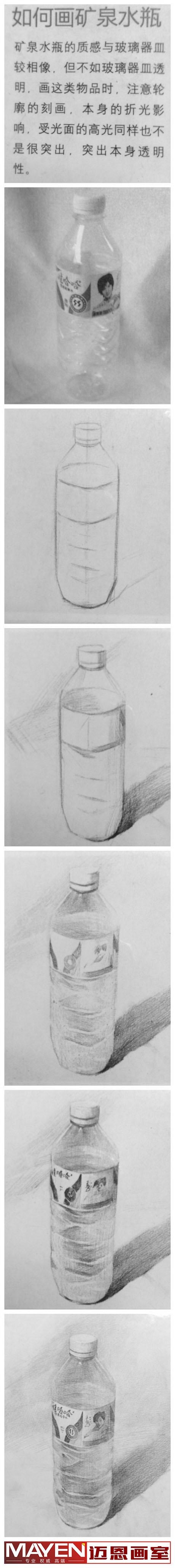 矿泉水瓶的画法