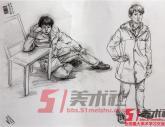 中国美院2014年【速写】高分试卷2(37p)