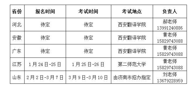 西安翻译学院2015年艺术专业课考试安排(更新中)