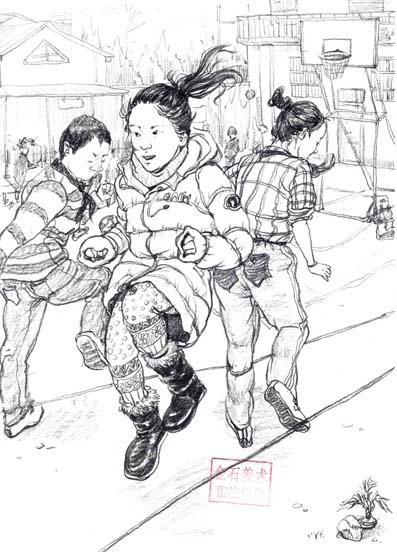 青岛金石美术培训中心速写作品专题库