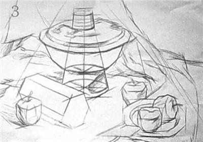 结构素描静物默画的表现方法与步骤!