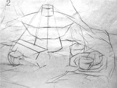 结构素描静物默写的表现方法与步骤 010画室艺术家的摇篮