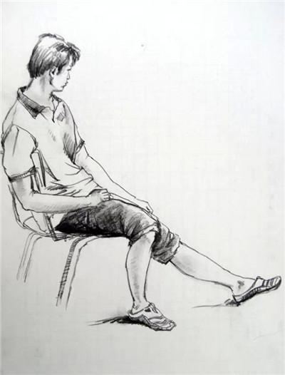 人物关节素描画