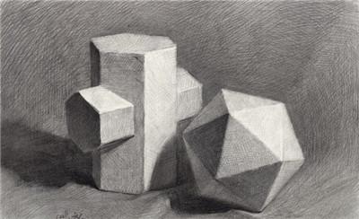 素描素描正方形步骤图片