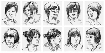 初学美术生速写学习宝典,200多张速写头像的画法!很赞