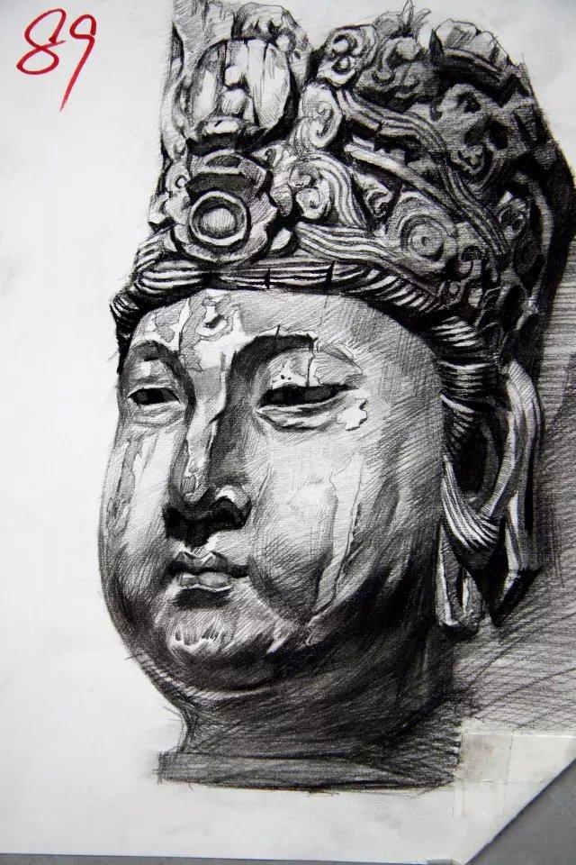 黑龙江联考素描头像(8)
