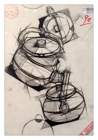 四川美术学院2015年【设计素描】高分试卷(设计类)