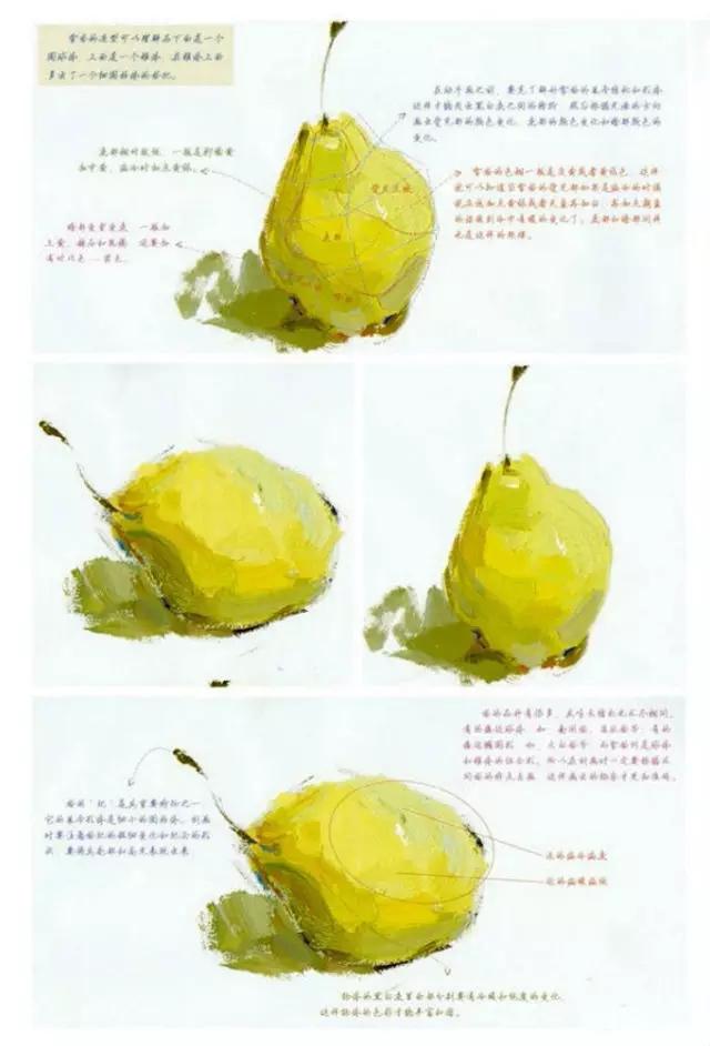 美术校考水粉静物单个蔬菜,水果画法汇总