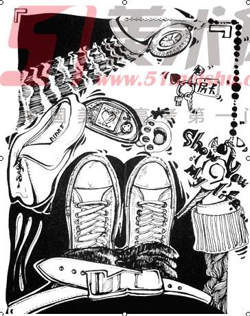 速写鞋子步骤分析图片