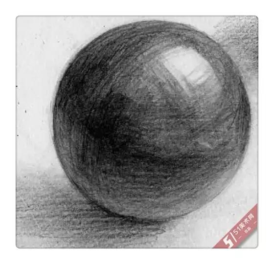 球的素描画法步骤