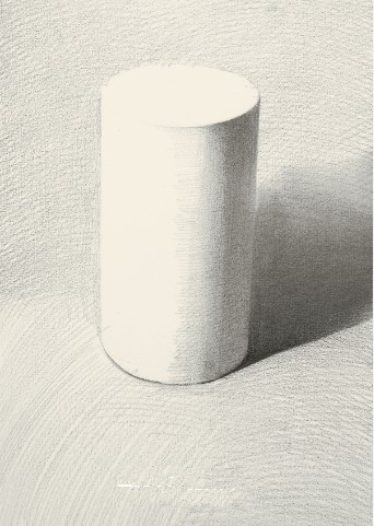 【圆柱体】石膏几何形体之圆柱体的画法