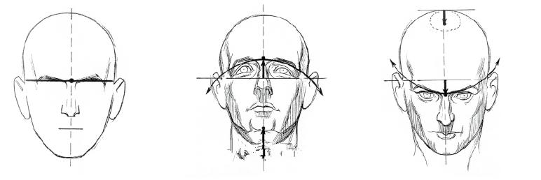 手绘脸部五官图片