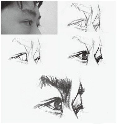 侧面眼睛素描步骤