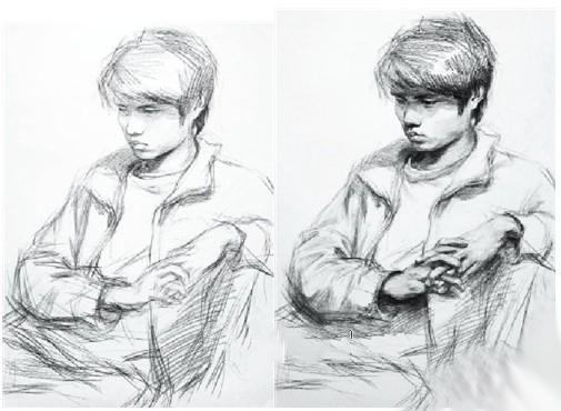 【半身步骤】男青年半身像作画步骤