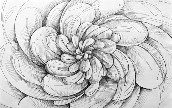 好看简单的图案铅笔画