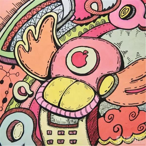 色彩装饰画